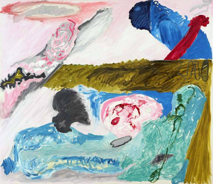 Untitled 23, 07.12. - 10.12.1986,  oil on canvas,  200 x 233 cm