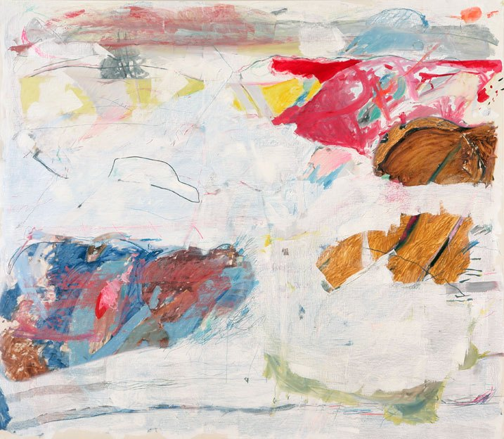 Untitled 25, 13.12.1986, 15.08. - 21.08.1987,  oil on canvas, 200 x 230 cm