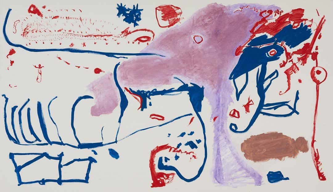 Untitled 33, 26. - 27.03.1987, 03.04.1987, oil on canvas, 200 x 335 cm