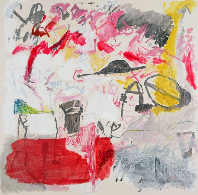 Untitled 48, 11.12.1987, 14.12.1987, 15.12.1987, oil on canvas, 200 x 203 cm