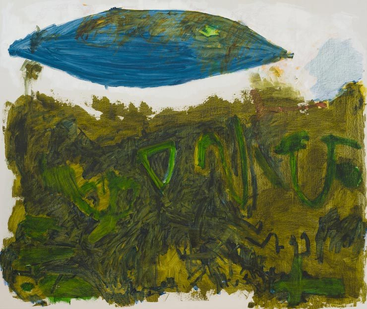 Untitled 49, 12. - 13.12.1989, 14.-19.7.1988, 25.7.1988, oil on canvas, 200 x 240 cm