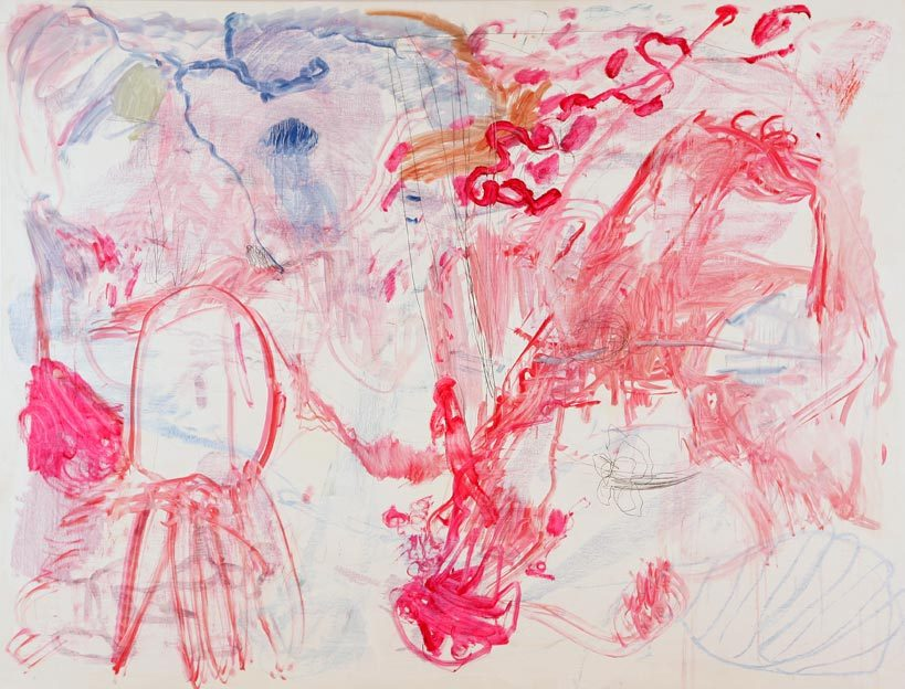 Untitled 59, 19.10. - 20.10.1988, 23.10.1988, 24.08. - 03.09.1991, oil on canvas, 200 x 261 cm