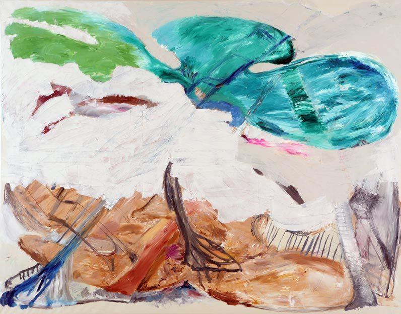 Untitled 5, 02.08. -14.08.1985, 21.03.2014, oil on canvas, 200 x 255 cm