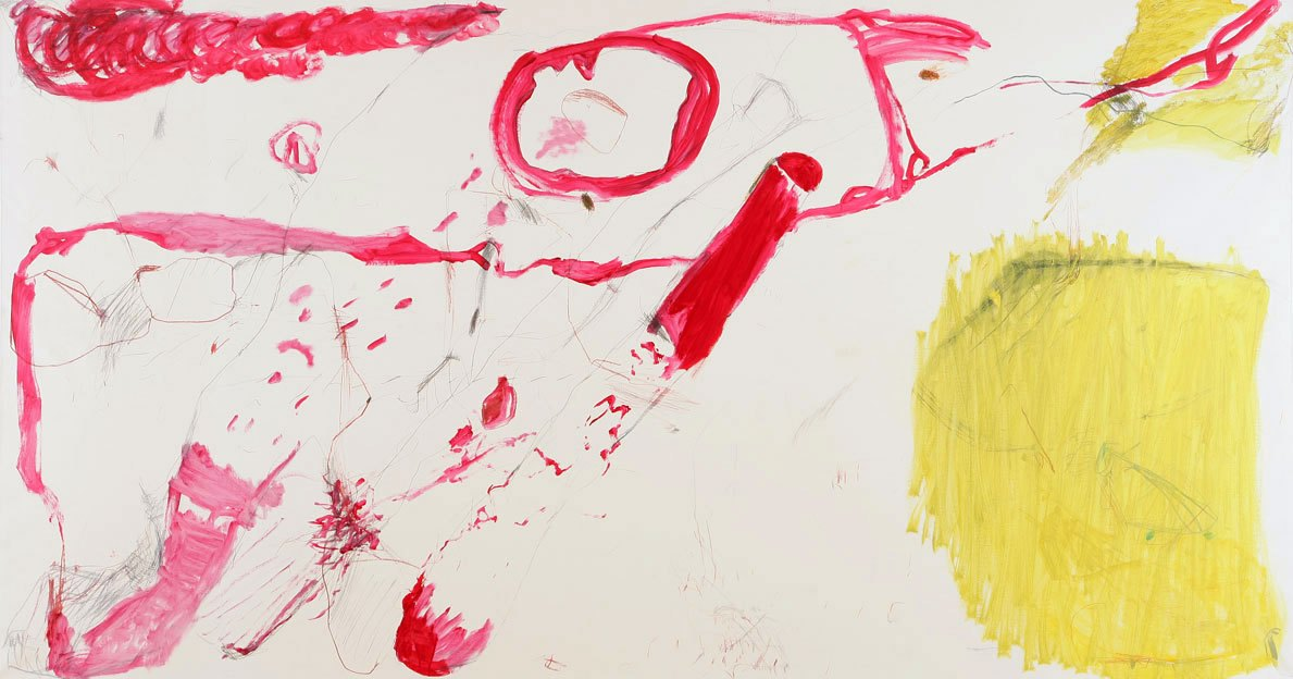 Untitled 64, 02. - 04.12.1988, oil on canvas, 200 x 373 cm