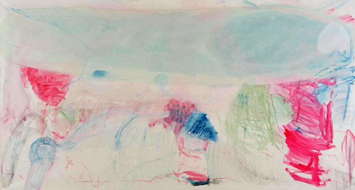 Untitled 91, 31.07. - 03.08.1989, 06.09. - 07.09.1989, oil on canvas, 200 x 368 cm
