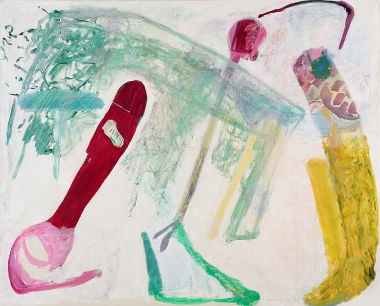 Untitled 9, 24.01. - 29.01.1986, 06.04 - 09.04.1986, 17.04. - 18.04.1986,  oil on canvas, 200 x 248 cm